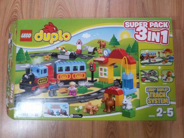 náhled Lego duplo/vláček s kolejemi navíc+krmení v zoo plus nákladní auto
