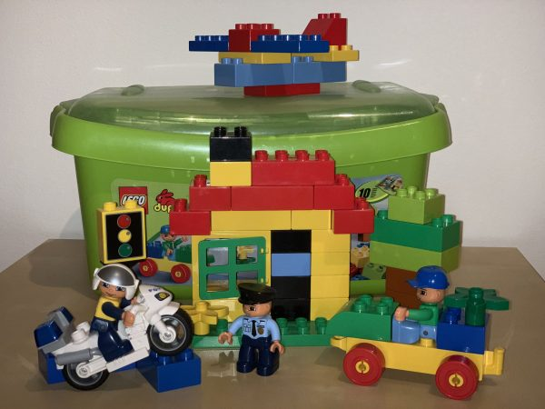 náhled Lego Duplo 5506 box s kostkami + Police motorka