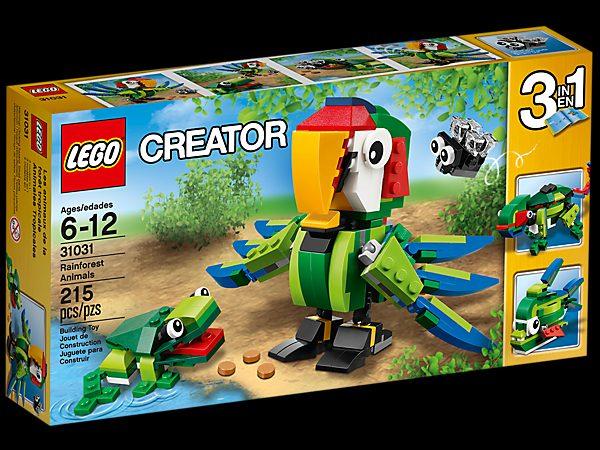 náhled Lego 31031 -  Zvířata z deštného pralesa